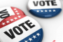 voter buttons on election day