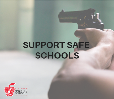 image of gun; support safe schools