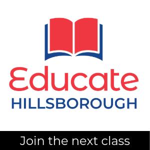 Educate Hillsborough logo; join the next class