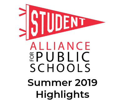 Student Alliance logo summer 2019 highlights