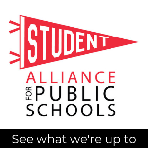 Student Alliance logo; see what we're up to